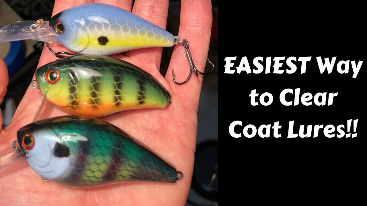 HOW to CLEAR COAT fishing lures   Devcon 2 ton epoxy