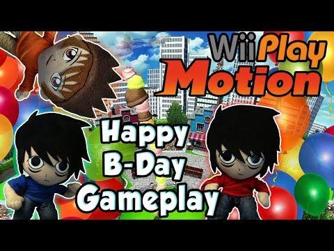 AnimeBroMii Birthday Gameplay!! Wii Play Motion Match!!  HD