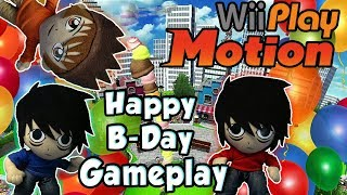 AnimeBroMii Birthday Gameplay!! Wii Play Motion Match!!  HD