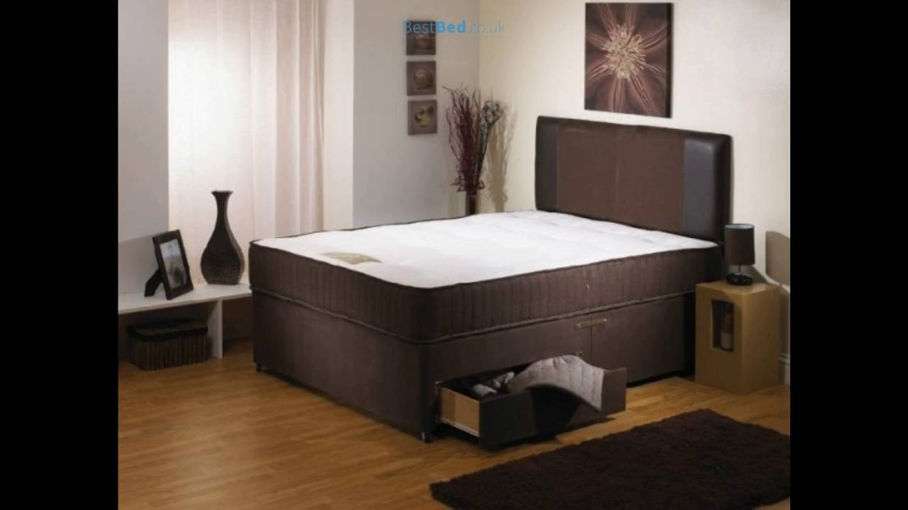 Single Pocket Sprung Memory Foam Mattress Deluxe 3ft Single 1500 Pocket Sprung Memory Foam Mattress In Brown