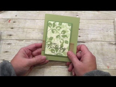How to make a simple Masculine Card two ways