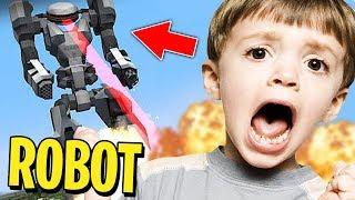 ¡TROLLEO CON ROBOT GIGANTE! | TROLLEOS EN MINECRAFT #186