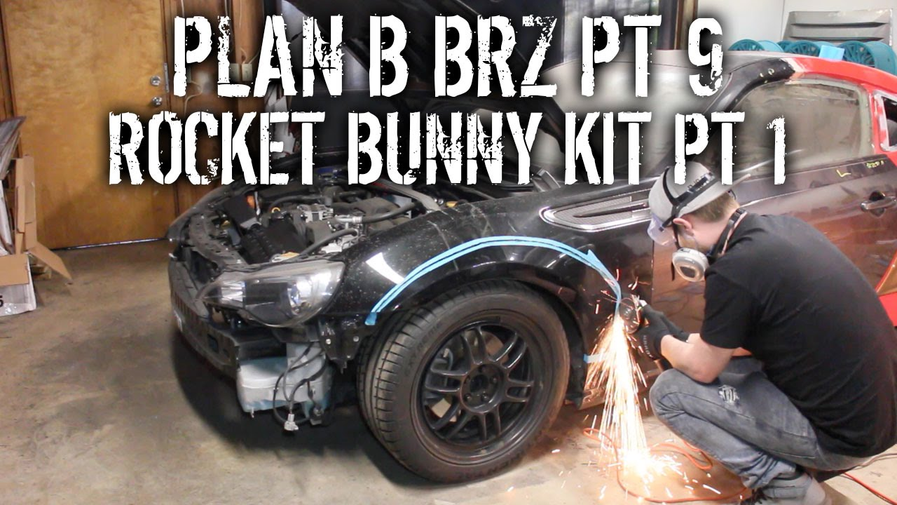 Plan b brz pt 9 diy install rocket bunny widebody kit pt 1 youtube solutioingenieria Image collections