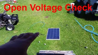Testing Failed Solar Panels Open Voltage (blocking Diode)