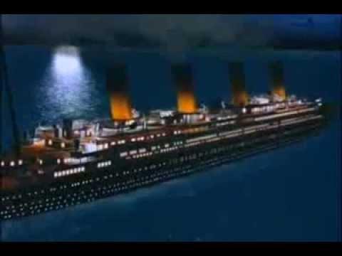 Titanic la pel cula animada escena del iceberg y el - Construccion del titanic ...