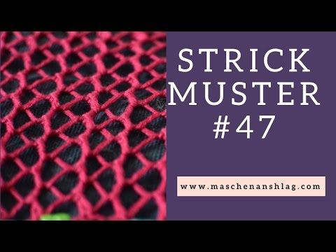 Netzmuster stricken | Lochmuster | Strickmuster #47