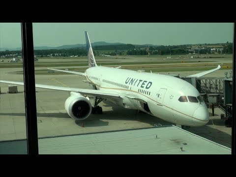 United Airlines Boeing 787-8 N27901 UA 53 Zurich-Washington IAD Economy Class Trip Report