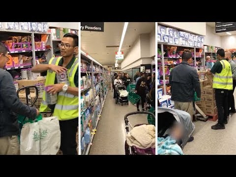 Crazed Shoppers In Bizarre Baby Formula Frenzy At Supermarket