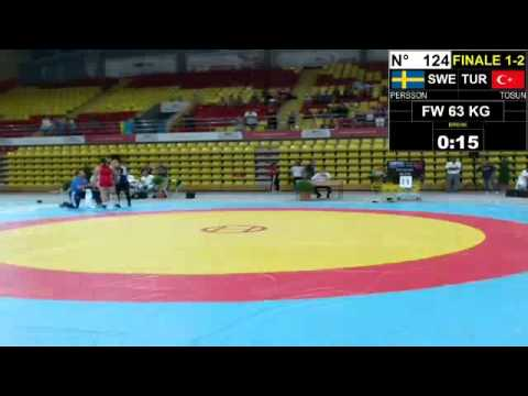 Final EJWC Skopje 2013 FW 63KG 05.07.13 1st Place And  2nd Place