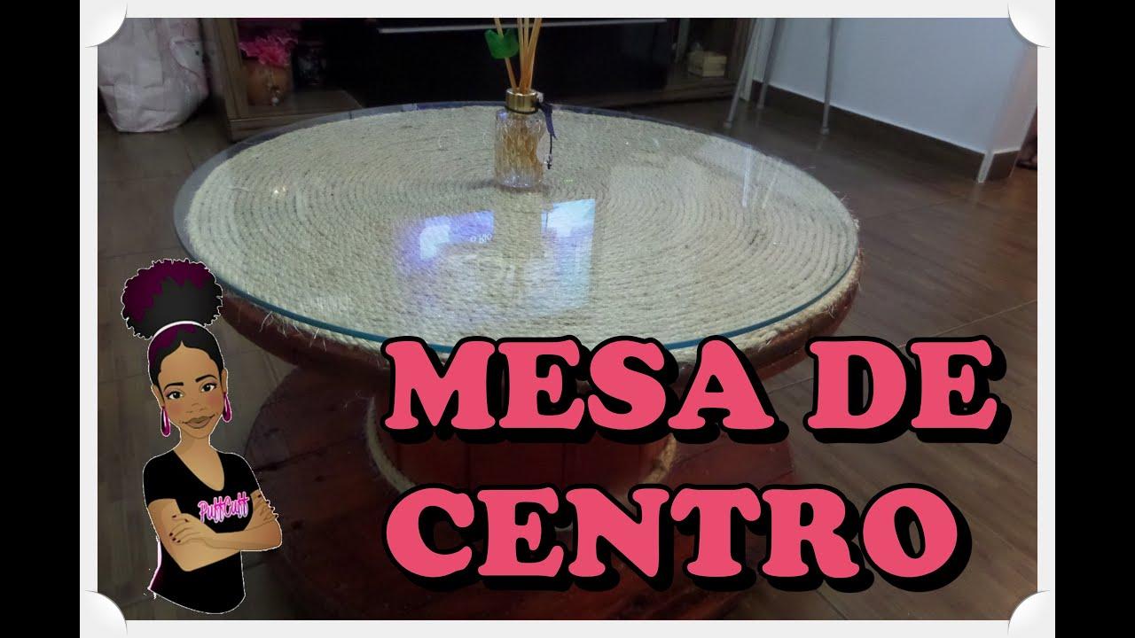 DIY Como fiz uma Mesa de Centro Bobina de Madeira  YouTube