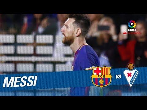 El póker de goles de Messi en el FC Barcelona vs SD Eibar (6-1)