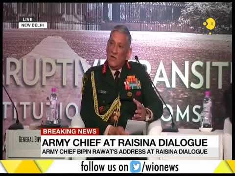 Breaking News: Army Chief at Raisina dialogue