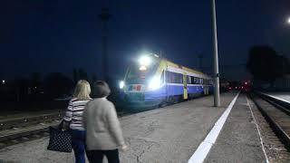 New train Odessa - Chisinau arriving at Tiraspol
