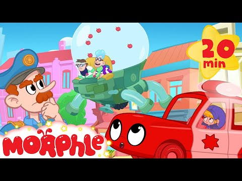 My Red Police Car in: The Bandits are not Bandits Anymore?  Morphle the superhero s for Kids!