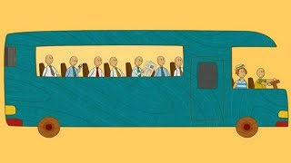 Car Toons: A Bus. A Car Cartoon & A Bus Cartoon