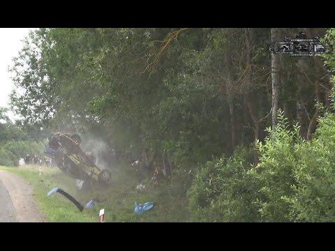Arūnas Vaičiūnas crash in 300 lakes rally 2016