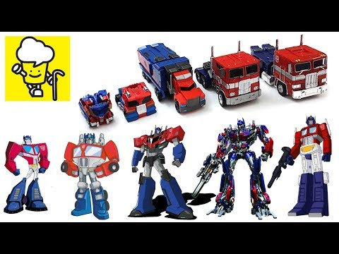 Different Optimus Prime Transformer robot toys   robots in disguise