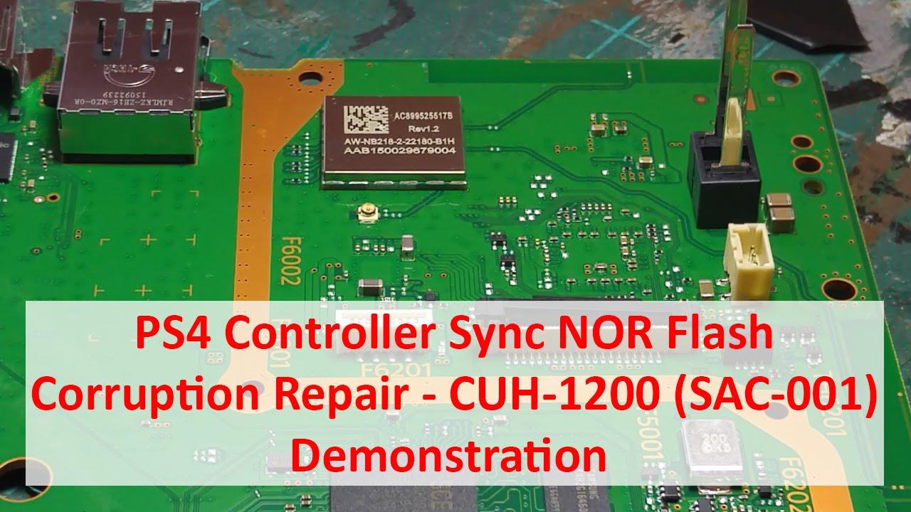 ps4 controller sync nor flash corruption repair cuh 1200 sac 001