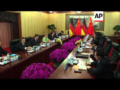 Chancellor Merkel holds talks with President Xi