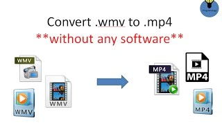 How to Convert wmv video to mp4 without any software, only using cmd, best free video converter