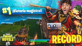 SUPERO MY RECORD OF KILLS WITH THE NEW LEGENDARY SKIN IN FORTNITE: Battle Royale!! - Agustin51