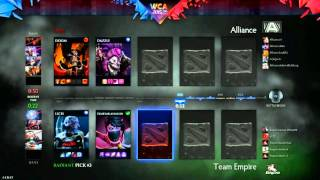 The Alliance vs Team Empire Game 3 - WCA EU Open Qualifier - @DotaCapitalist @TobiWanDOTA