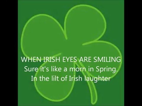 IRISH SONGS: When Irish Eyes Are Smiling with Lyrics SING ALONG  Irishsongs music