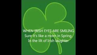 IRISH SONGS: When Irish Eyes Are Smiling with Lyrics SING ALONG Irishsongs music