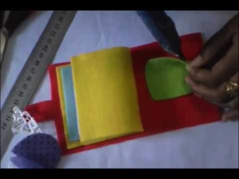 Membuat Dompet Alat Jahit Dari Kain Flanel