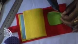 Tutorial membuat dompet alat jahit dari kain flanel. terkadang bunda bingung saat harus bepergian dengan membawa jahit, antara takut beberapa jarum...
