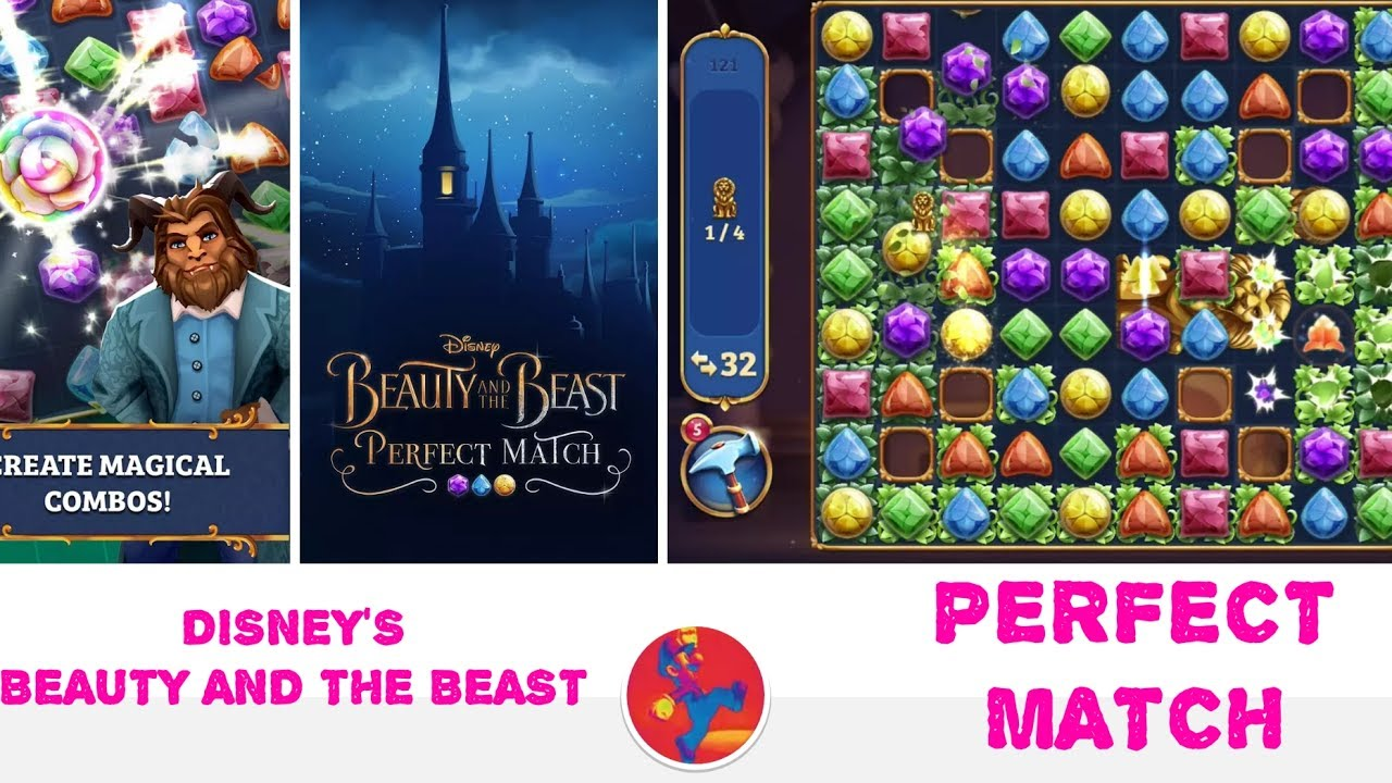 Disney's Beauty and the Beast: Perfect Match - Match 3 game