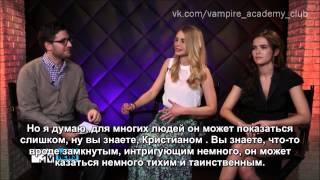 Зои Дойч и Люси Фрай на MTV News. Русские субтитры