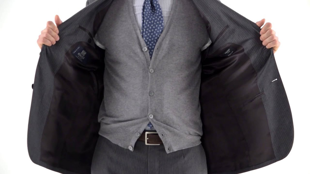 f1e946c3c5 PINSTRIPED SUIT IN FLANNEL WOOL SUPER 100 – MADE IN ITALY - YouTube