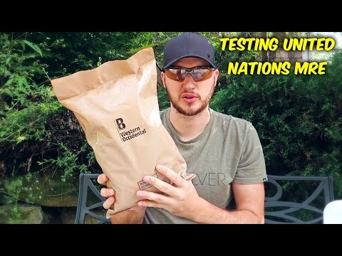 Testing United Nations MRE (Meal Ready to Eat)