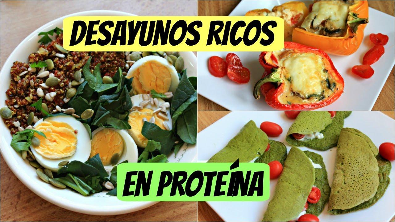 Recetas desayunos con proteinas