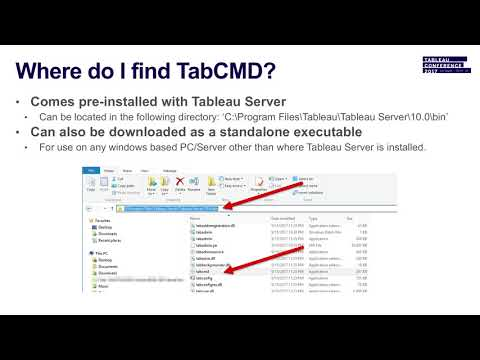 Server tools 102: Take command with Tabcmd - YouTube