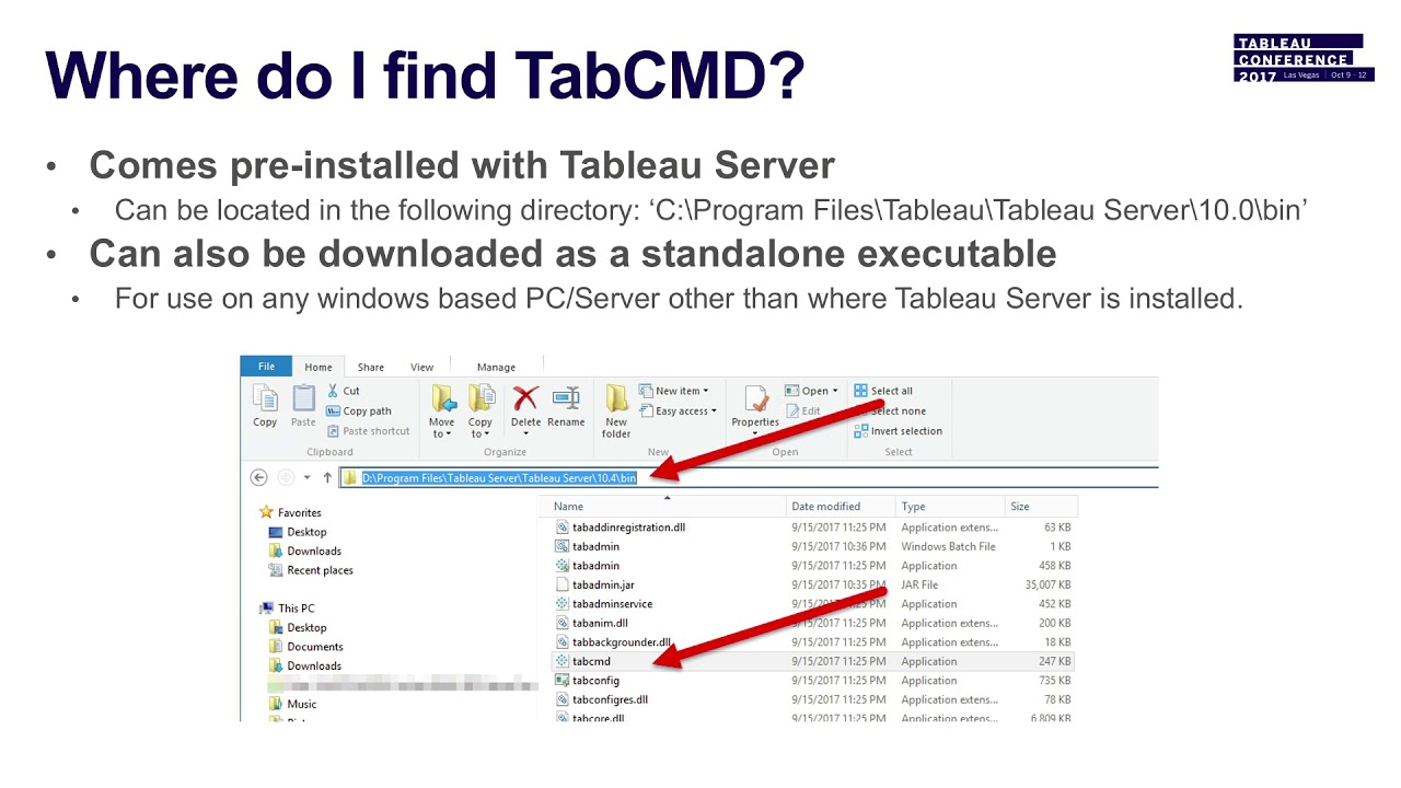 Server tools 102: Take command with Tabcmd
