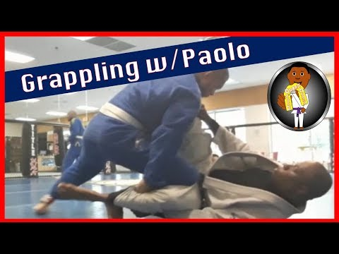 BJJ Roll No. 108 - Grappling with Paolo - at Smiley Academy