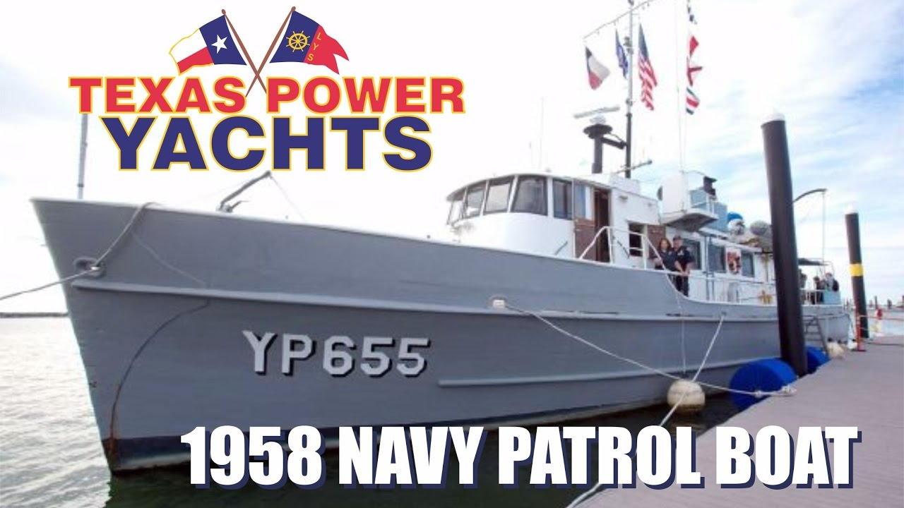 1958 Converted 80 Navy Patrol Boat For Sale At Texas