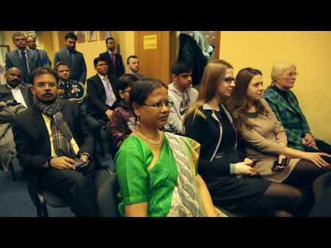 Shri M J Akbar Minister of State for External affairs visit to Ukraine addressing Indian Diaspora