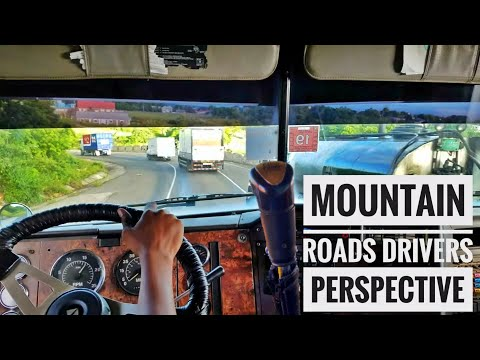 Driver's Perspective – Down Winding Mountain Roads with Tractor Trailers