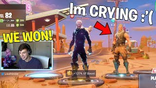 IF WE WIN, I will buy you the $1000 GALAXY SKIN.. (Fortnite Challenge)