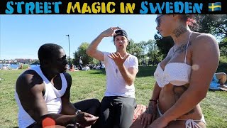 Hot Swedish girls reacts to magic 🇸🇪 -Julien Magic