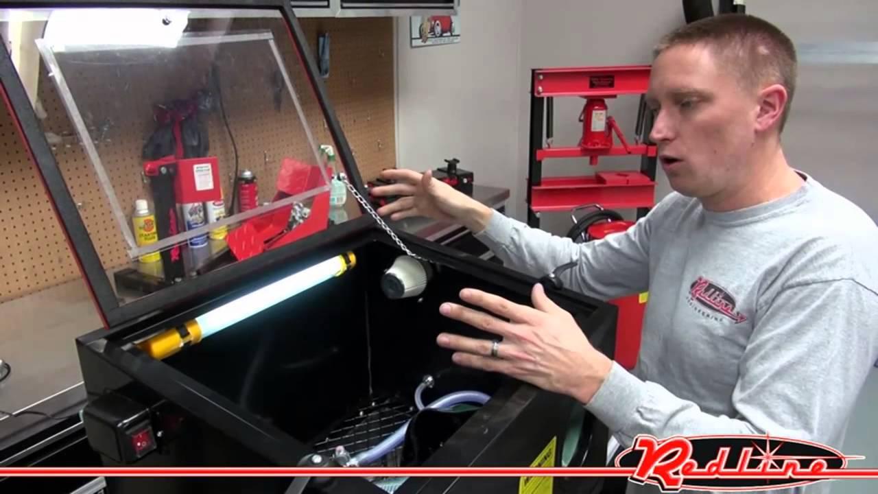 Redline RE26 Benchtop Sand Blasting Cabinet - YouTube