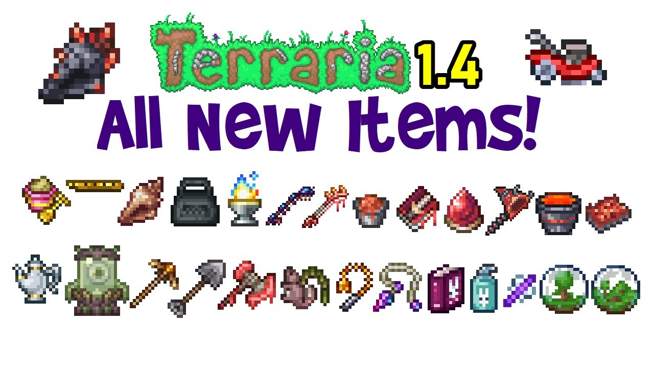 Terraria 1.4 All New Items! (Journey's End Item List/Showcase, New Stuff)