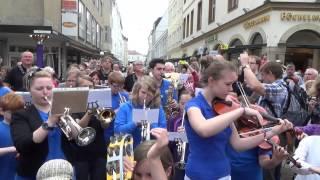 Tage wie diese, Flashmob Bielefeld zum Tag der Musik (15.06.2013)