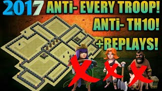 Th9 2017 ANTi - Town Hall 10! ANTi 3star WEIRD WAR BASE! ANTi EVERYTHING! +REPLAYS! *UNBEATABLE*