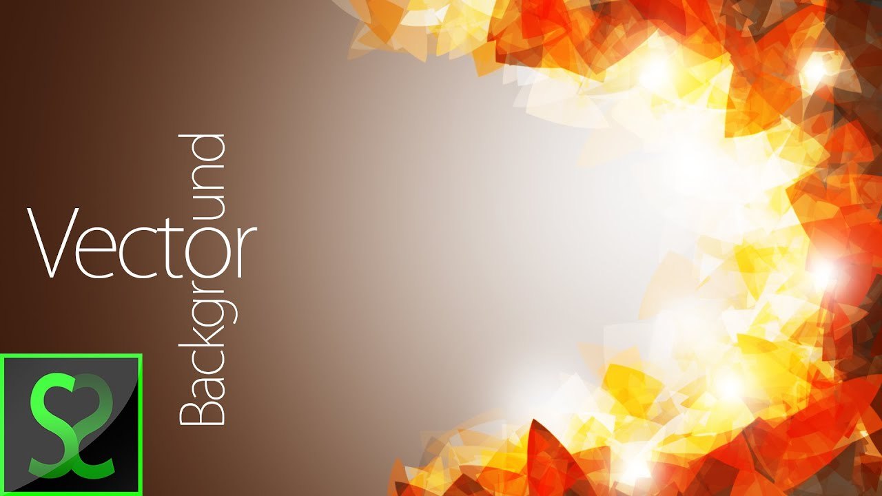 Abstract Vector Background | Photoshop tutorial - YouTube