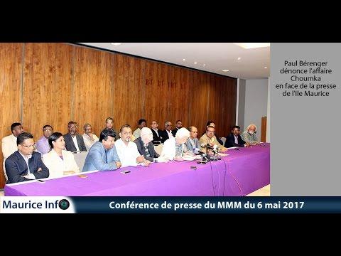 Maurice Info - Conférence de presse du MMM du 6 Mai 2017