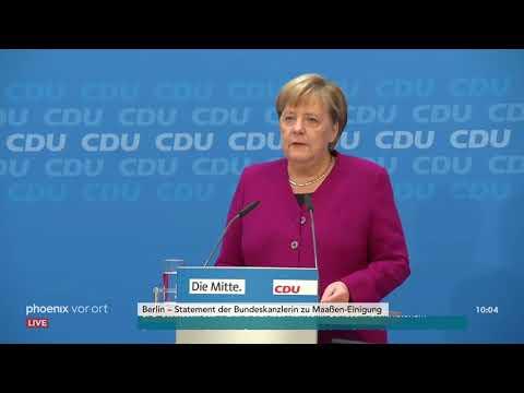 Pressestatement von Angela Merkel zur Maaßen-Einigung